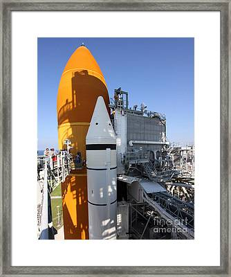 Space Shuttle Endeavour On The Launch Framed Print by Stocktrek Images