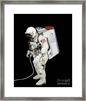 Spacesuit Used By Gemini Viii Framed Print by Stocktrek Images