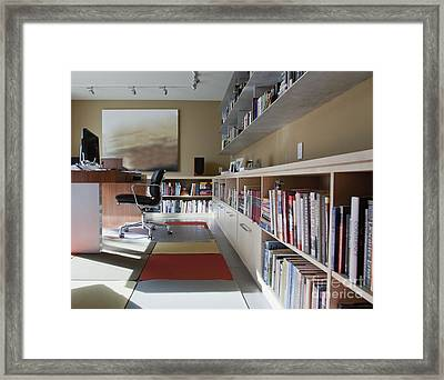 Spacious Home Office Framed Print by Inti St. Clair