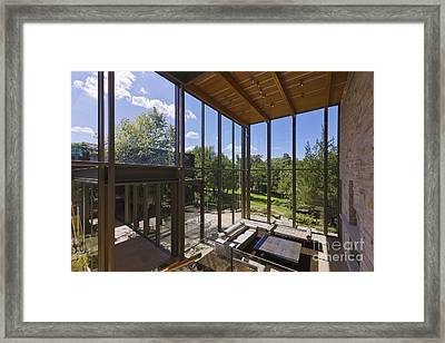Spacious Living Room With A View Framed Print by Jeremy Woodhouse