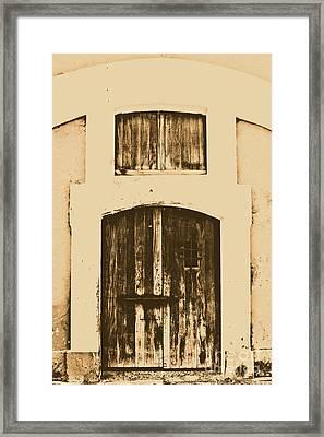 Spanish Fort Door Castillo San Felipe Del Morro San Juan Puerto Rico Prints Rustic Framed Print by Shawn O'Brien