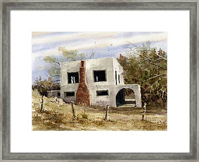 Spanish Mansion Framed Print by Sam Sidders