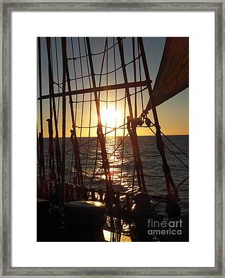 Sparkle In The Rigging Framed Print by L Jaye Bell
