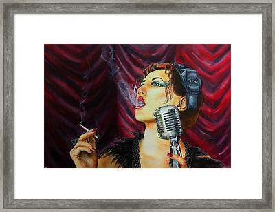 Speakeasy Blues Framed Print by Don Whitson