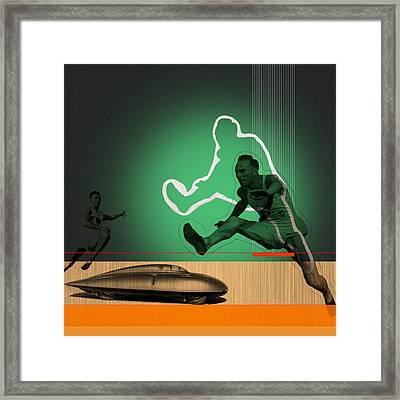 Speed Monsters Framed Print by Naxart Studio