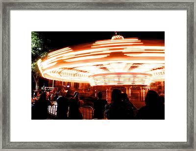 Speed Of Light Framed Print by Alexander Martinez