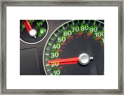 Speedometer Framed Print by Johnny Greig