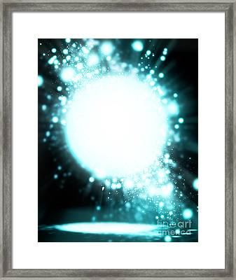 Sphere Lighting Framed Print by Setsiri Silapasuwanchai