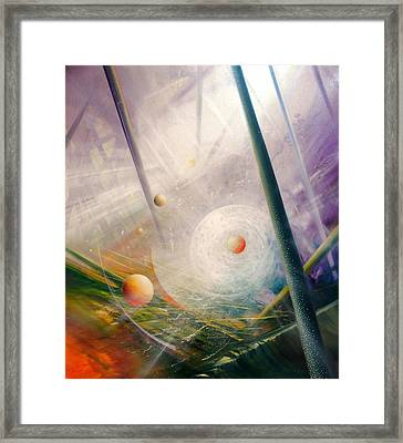 Sphere New Lights Framed Print by Drazen Pavlovic