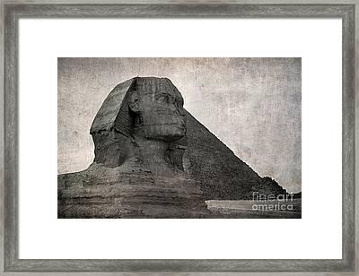 Sphinx Vintage Photo Framed Print by Jane Rix