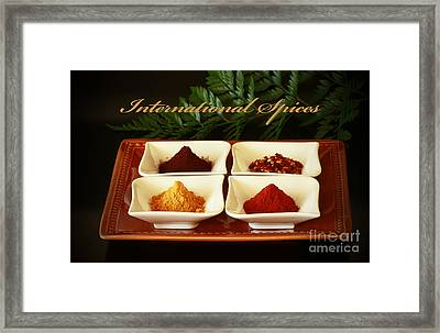 Spices From Around The World Framed Print by Inspired Nature Photography Fine Art Photography