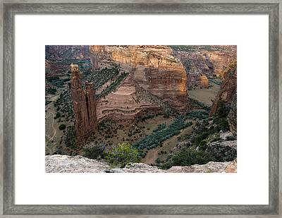 Spider Rock Vista Framed Print by Dave Dilli