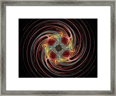 Spin Fractal Framed Print by Betsy Knapp