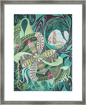 Spinner In Bloom Framed Print by Jason Krause