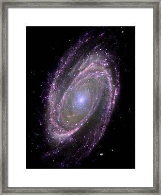 Spiral Galaxy M81, Composite Image Framed Print by Nasacxcesajpl-caltechs Markoff Et Al