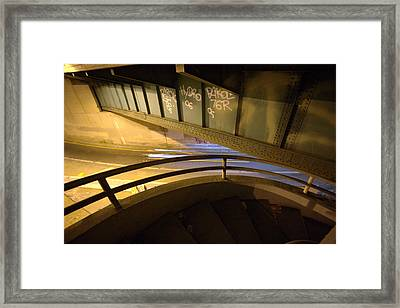 Spiral Staircase At The 110 Framed Print by Kevin  Break