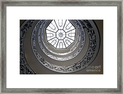 Spiral Staircase In The Vatican Museums Framed Print by Bernard Jaubert