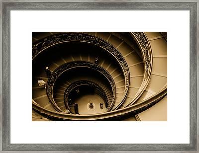 Spiral Stairs Framed Print by Dima Kirlov