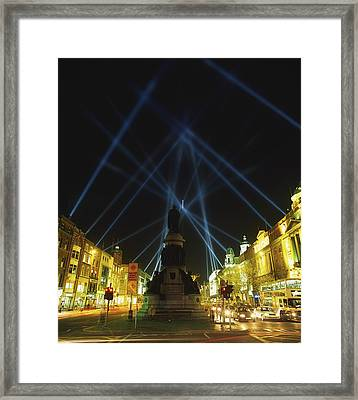 Spire Of Dublin, Oconnell Street Framed Print by The Irish Image Collection