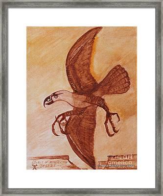 Spirit Of American Desert Framed Print by Anna Folkartanna Maciejewska-Dyba