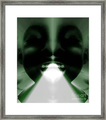 Spiritual Authority - Gift From God Framed Print by Fania Simon