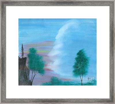 Split Sky Framed Print by Robert Meszaros