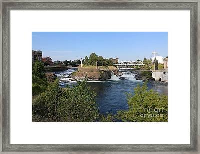 Spokane Falls Hdr Framed Print by Carol Groenen