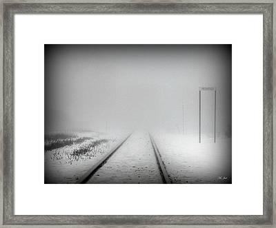 Spooky Train Tracks Framed Print by Ms Judi