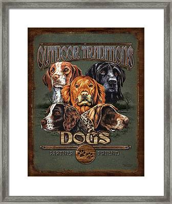 Sporting Dog Traditions Framed Print by JQ Licensing