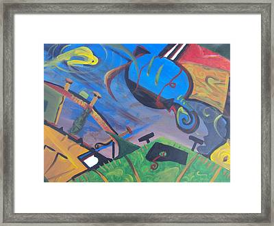 Abstract Representation Of The Word Sport Framed Print by Casey P