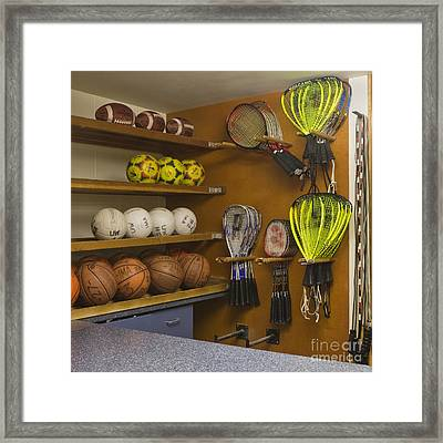 Sports Equipment Display Framed Print by Andersen Ross