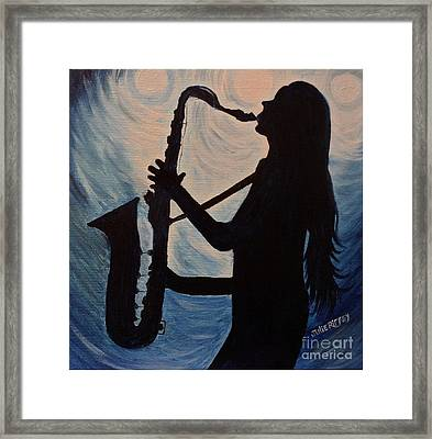 Spotlight On The Blues Framed Print by Julie Brugh Riffey