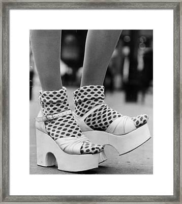 Spotty Socks Framed Print by Gunnar Larsen