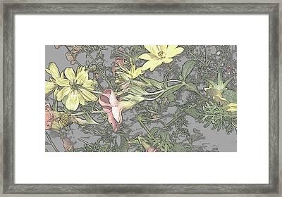 Spring Blossoms In Abstract Framed Print by Kim Galluzzo Wozniak