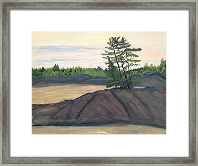 Spring On River Framed Print by Paula Brown