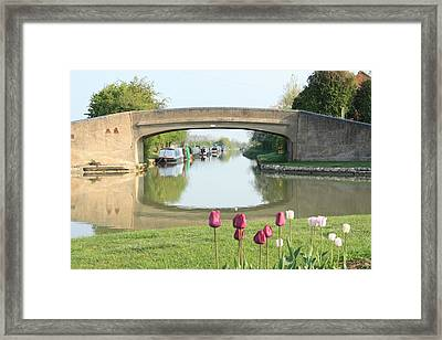 Spring On The Oxford Canal Framed Print by Linsey Williams