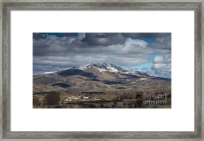 Spring Snow Framed Print by Robert Bales