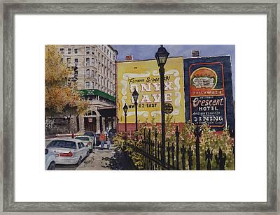 Spring Street At Basin Park Framed Print by Sam Sidders