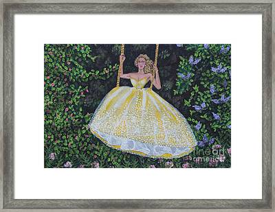 Spring Swing Framed Print by William Ohanlan