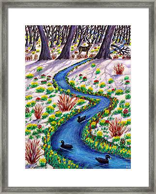 Spring Thaw - Tatton Park Framed Print by Ronald Haber