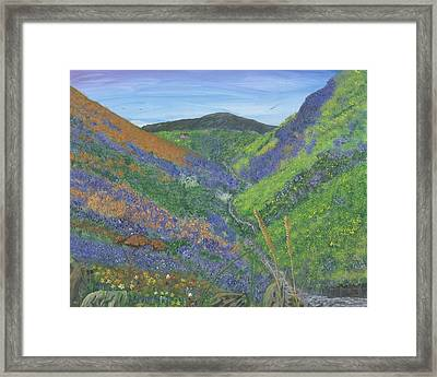 Spring Time In The Mountains Framed Print by Lori  Theim-Busch