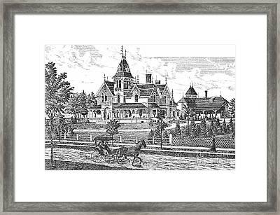 Springfield: Riverview Framed Print by Granger