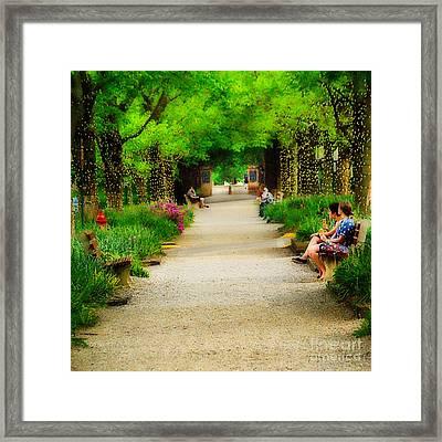 Springtime On Middlepath Framed Print by Jak of Arts Photography