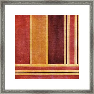 Square With Lines 2 Framed Print by Hakon Soreide