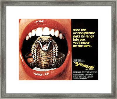 Sssssss, Lobby Card, 1973 Framed Print by Everett