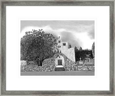 St Franncis De Paula Mission Framed Print by Jack Pumphrey