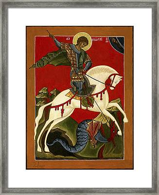 St George And The Dragon Framed Print by Raffaella Lunelli