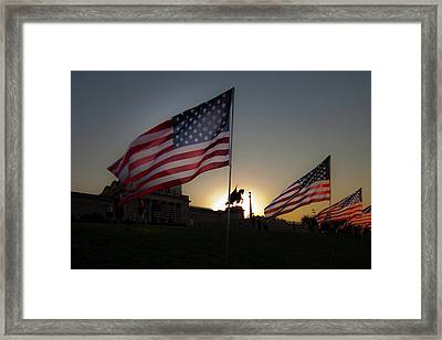 St Louis Remembers 9 11 Framed Print by David Coblitz