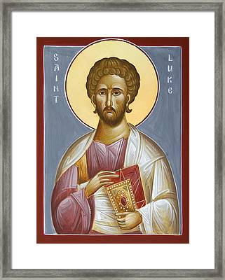 St Luke The Evangelist Framed Print by Julia Bridget Hayes