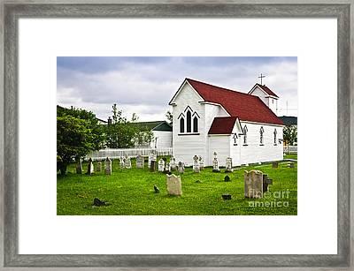 St. Luke's Church In Placentia Newfoundland Framed Print by Elena Elisseeva